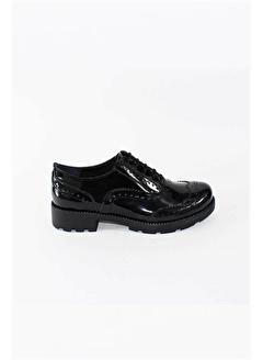 Modabuymus Modabuymus Hakiki Rugan Deri Kadın Oxford Ayakkabı - Fogli